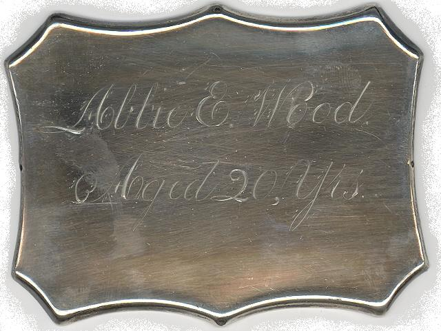 The Free Genealogy Death Record on the Coffin Plate of Abbie E Wood