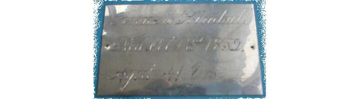 The Birth Record and Death Record on the Coffin Plate of Ann M. Kimball is Free Genealogy