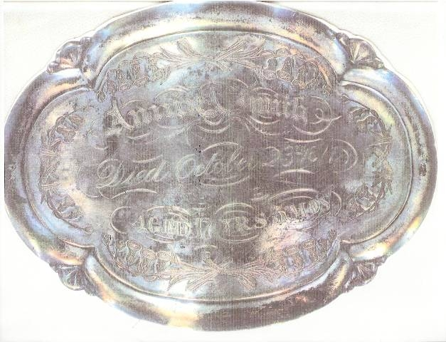 The Free Genealogy Death Record on the Coffin Plate of Annie A Smith 1860 ~ 1877