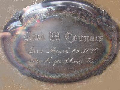 The Birth Record and Death Record on the Coffin Plate of Anna M Connors is Free Genealogy