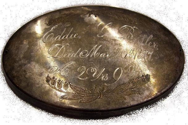Free Death Record on the Coffin Plate of Eddie G Butler is Free Genealogy
