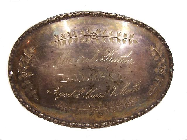 Free Death Record on the Coffin Plate of Elmer A Butler and Eddie G Butler is Free Genealogy
