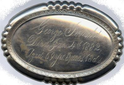 The Free Genealogy Death Record on the Coffin Plate of George Fernald 1813 ~ 1882