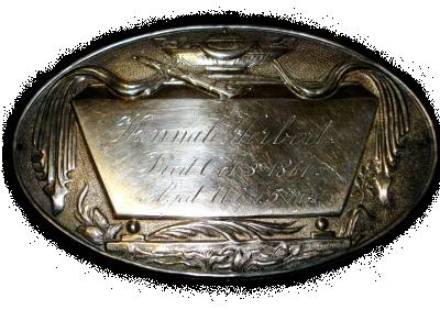The Free Genealogy Death Record on the Coffin Plate of Hannah Herbert 1850 ~ 1861