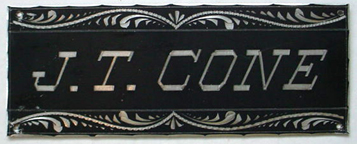The Free Genealogy Death Record on the Coffin Plate of J.T. Cone