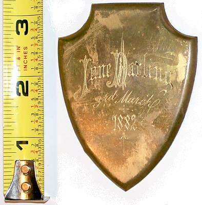 The Free Genealogy Death Record on the Coffin Plate of Jane Darling