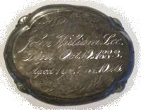 The Free Genealogy Death Record on the Coffin Plate of John Williams Lee 1882 ~ 1883