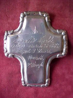 The Birth Record and Death Record on the Coffin Plate of Loretto Noll is Free Genealogy