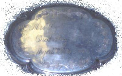 The Free Genealogy Death Record on the Coffin Plate of Mrs Lydia Marshall 1786~1869