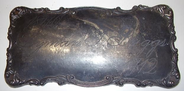 The Free Genealogy Death Record on the Coffin Plate of Lyman Briggs 1840 ~ 1912