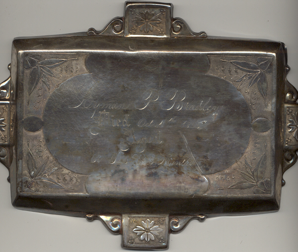 The Free Genealogy Death Record on the Coffin Plate of Lyman P Bradley