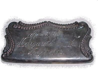 The Free Genealogy Death Record on the Coffin Plate of  Margaret C Clark 1810 ~ 1904