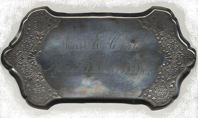 The Free Genealogy Death Record on the Coffin Plate of Mary E Chase Aged 38 Years