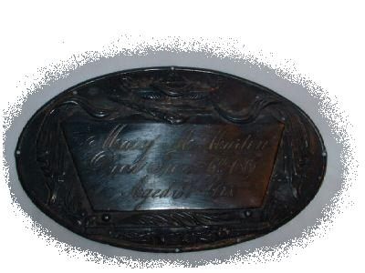 The Free Genealogy Death Record on the Coffin Plate of Mary M Martin 1824 ~ 1861