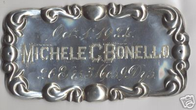Free Genealogy Death Record on the Coffin Plate of Michele C Bonello 1898 ~1924