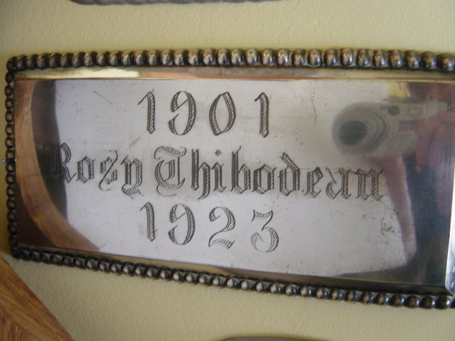 The Free Genealogy Death Record on the Coffin Plate of Rose