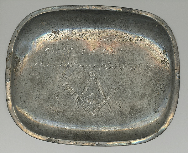 The Free Genealogy Death Record on the Coffin Plate of Silas Hanchet 1780 ~ 1848