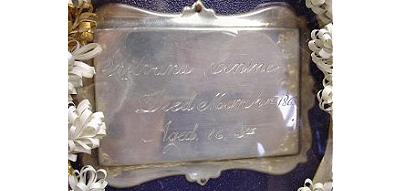 The Free Genealogy Death Record on the Coffin Plate of Sylvana Contine 1847 ~ 1863