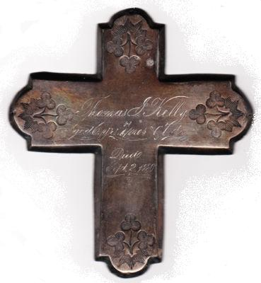 The Free Genealogy Death Record on the Coffin Plate of Thomas Kelly 1874 ~ 1880