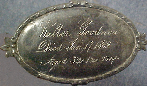 The Free Genealogy Death Record on the Coffin Plate of Walter Goodnow