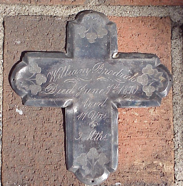 The Free Genealogy Death Record on the Coffin Plate of William Broderick