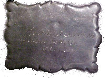 The Free Genealogy Death Record on the Coffin Plate of William L Slocum 1841 ~ 1856