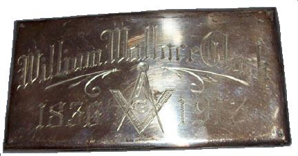 The Free Genealogy Death Record on the Coffin Plate of William Wallace Clark 1836 ~ 1913