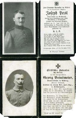 Death Record on the Memorial Card of Josef Peisl