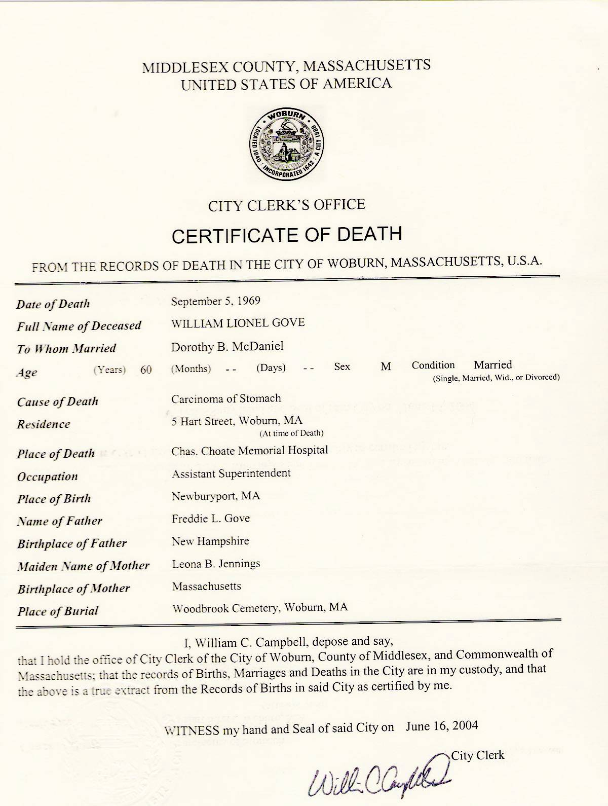 Death certificates the birth record and death record of william l grove died 1969 is free genealogy aiddatafo Image collections