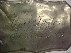 The Birth Record and Death Record on the Coffin Plate of Abner Dunton is Free Genealogy