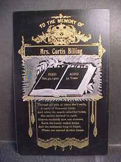 Curtis Billing death card