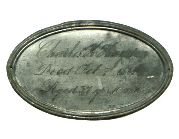The Birth & Death Record on the Coffin Plate of Charles H Hayden 1828 ~ 1865 is Free Genealogy
