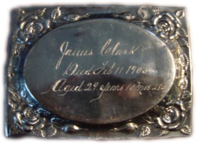 The Birth Record and Death Record on the Coffin Plate of James Clark is Free Genealogy