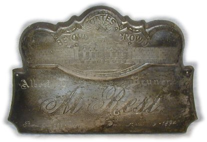 The Birth Record and Death Record on the Coffin Plate of Albert Bruner is Free Genealogy