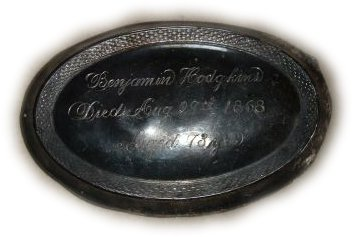 The Birth Record and Death Record on the Coffin Plate of Benjamin Hodgkins is Free Genealogy