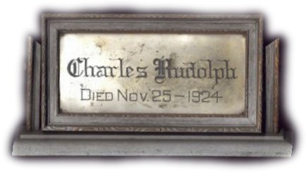 The Birth Record and Death Record on the Coffin Plate of Charles Rudolph is Free Genealogy