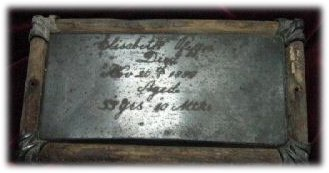 Birth & Death Record on the Coffin Plate of Elisabeth Ofeffer