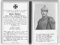 Death Record of Alois Ostner