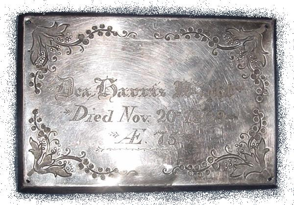 The Birth Record and Death Record on the Coffin Plate of Deacon Harris Wight is Free Genealogy