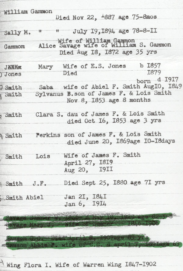 Death Records in York Cemetery