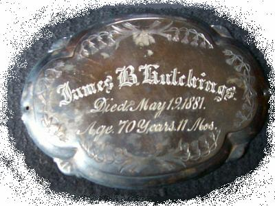 The Birth Record and Death Record on the Coffin Plate of James Hutchings is Free Genealogy