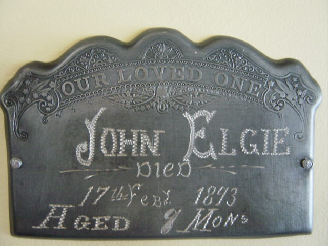 The Birth Record and Death Record on the Coffin Plate of John Elgie is Free Genealogy