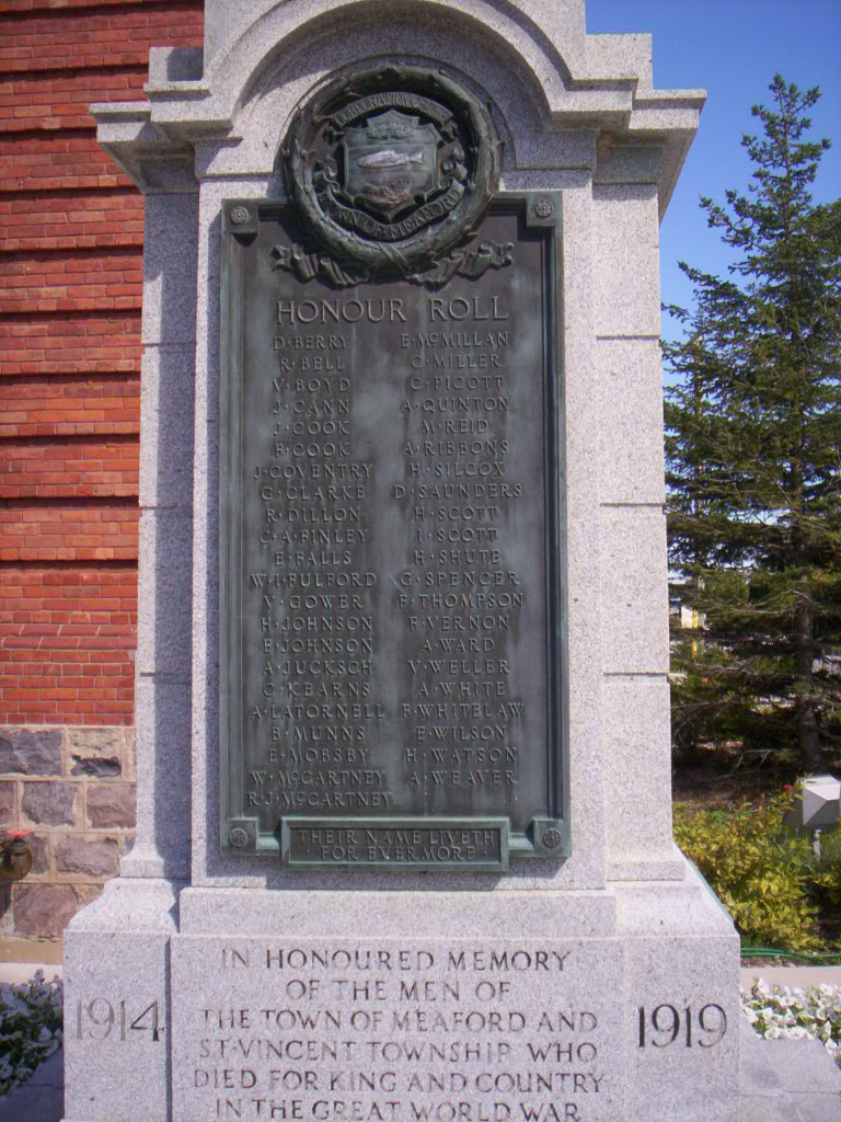 death records Meaford