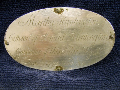 Birth & Death Record on the Coffin Plate of Martha Huntington