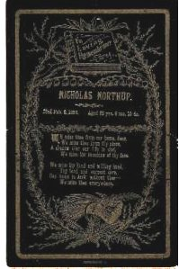 Nicholas Northrup death card
