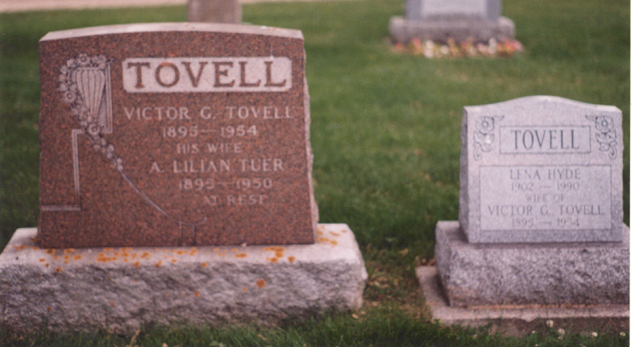 search cemetery death records victor tovell