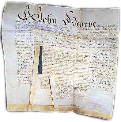 free death records in the will of John Hearne, Middlesex, England