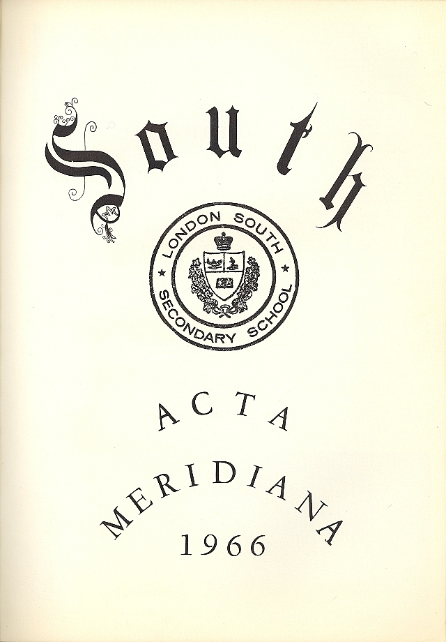 London South Secondary School Yearbook